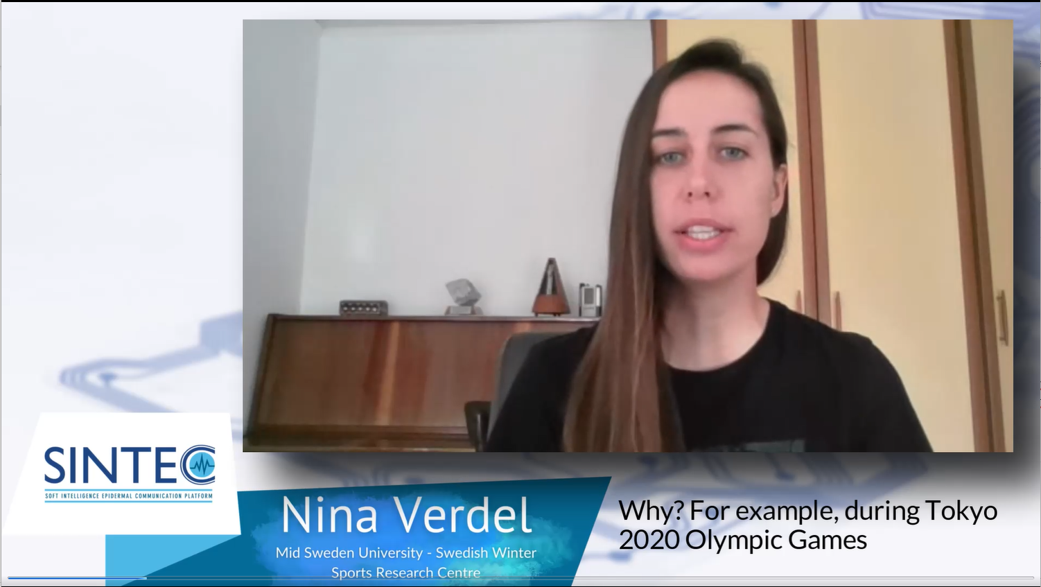 Monitoring core body temperature in sports and the role of SINTEC project: interview to Matej Supej and Nina Verdel